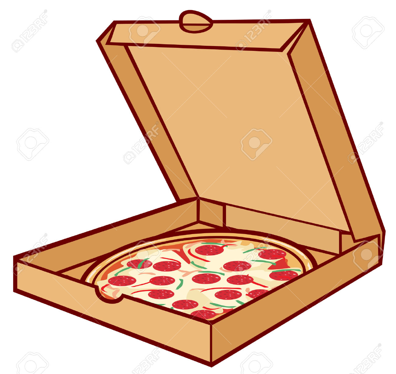 1300x1227 Open Pizza Box Clipart