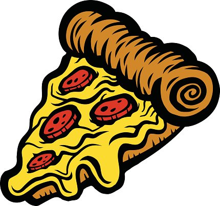 430x402 Pizza Slice Vector Icon Premium Clipart