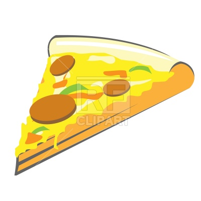 400x400 Pizza Slice Royalty Free Vector Clip Art Image