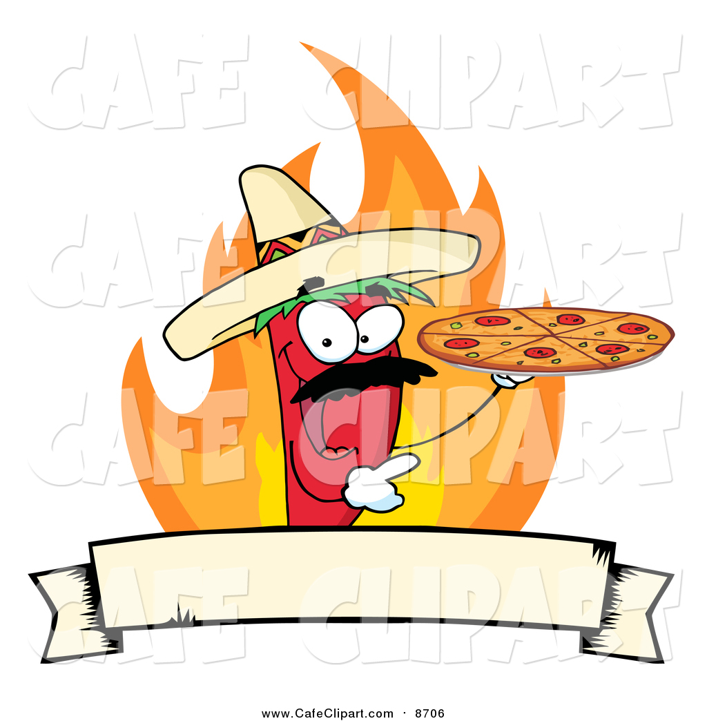 1024x1044 Vector Cartoon Clip Art Of A Red Pepper Character Holding A Pizza