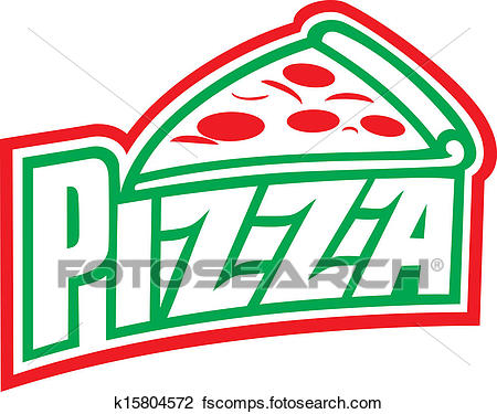 450x375 Clipart Of Pizza Label Design (Pizzeria Label) K15804572