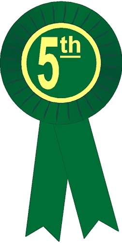 252x500 5th Place Stock Place Rosette Ribbon By Saymore Trophy