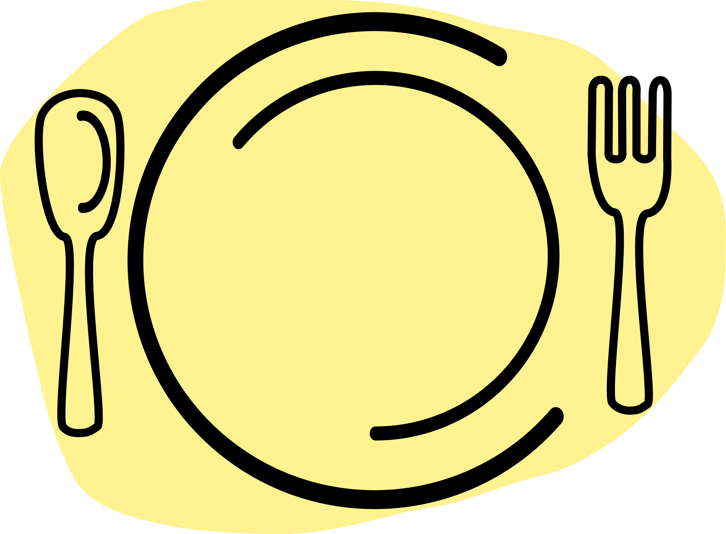 2400x1766 Plate Clipart Plate Fork