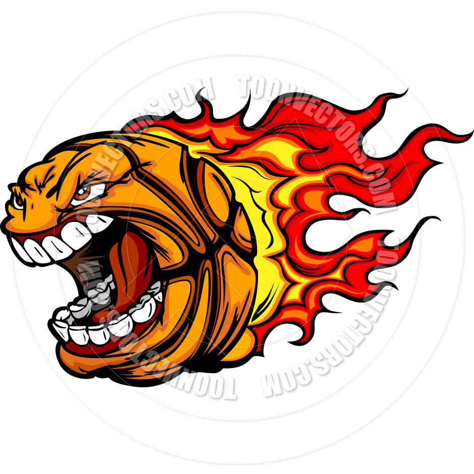 940x940 Basketball Flames Cartoon Vector Clipart Image By Chromaco Toon