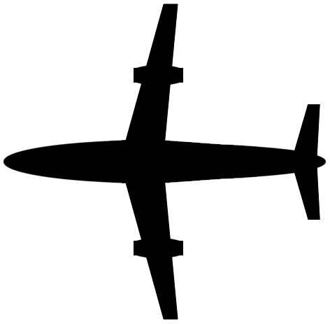 472x463 Free Airplane Clipart Black And White Image