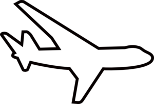 300x204 Free Airplane Clipart Black And White Image