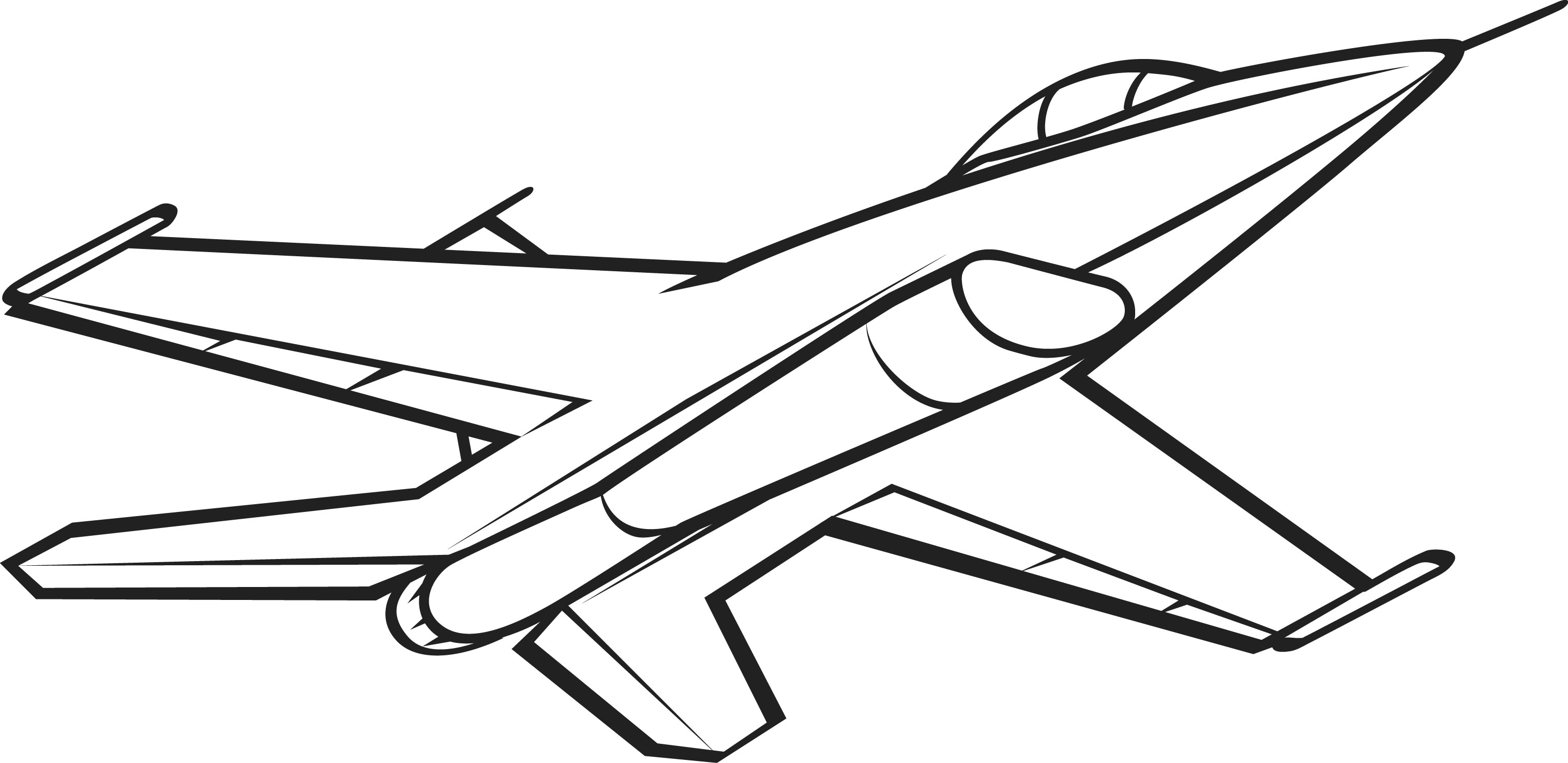 3032x1474 Plane Clipart Black And White Png