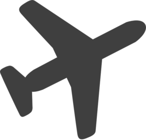 300x288 Grey Airplane Clip Art