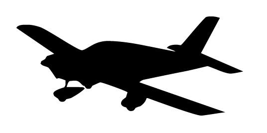 536x267 Aircraft Silhouette Clipart