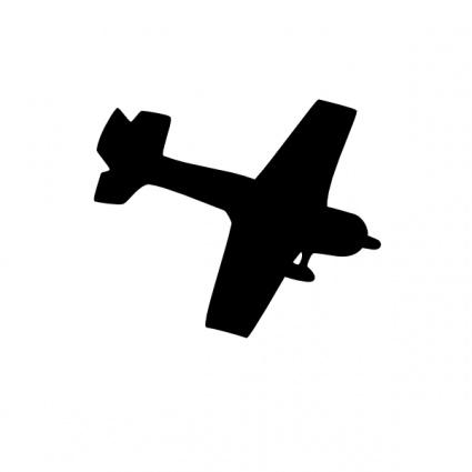 425x425 Silhouette Plane Clip Art Vector, Free Vectors