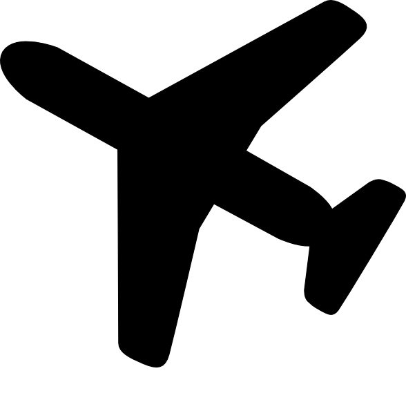 588x595 Airplane Clip Art