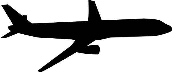 600x252 Airplane clipart black and white free clipart images 2