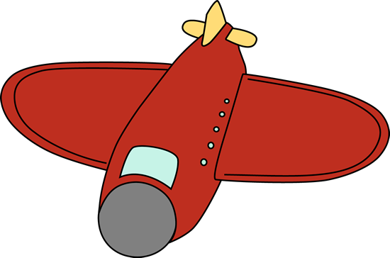 550x364 Big Red Airplane Clip Art