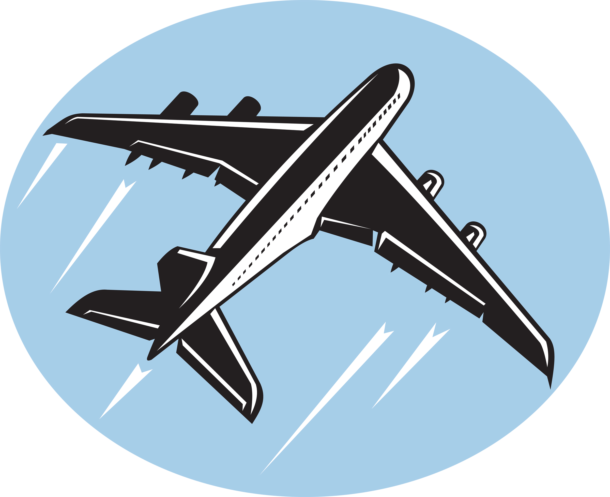 2400x1955 airplane clip art