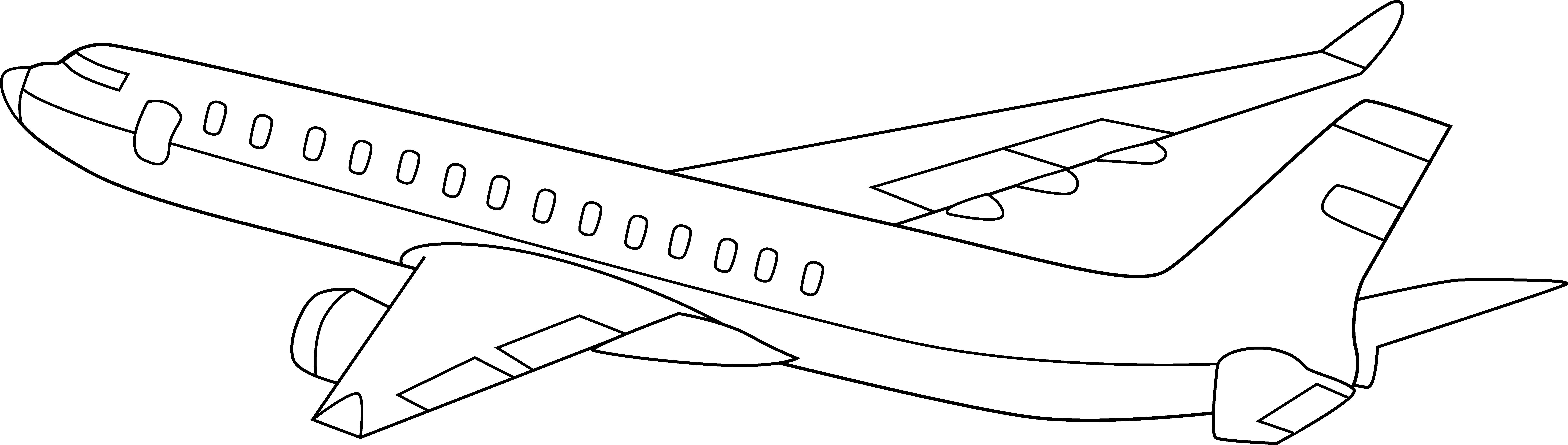8980x2550 Airplane Clipart Black Background