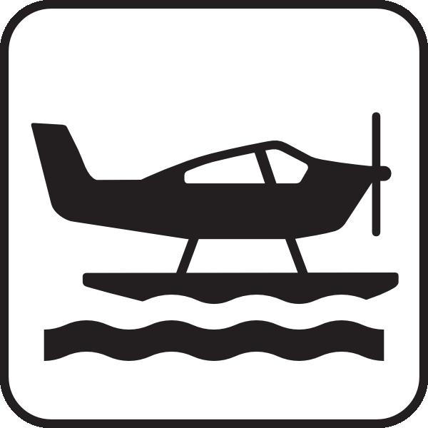 600x600 Sea Plane White Clip Art