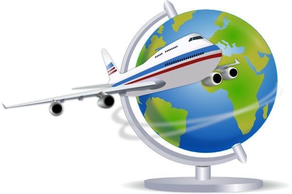 600x398 Free Airplane Travel Clipart Image