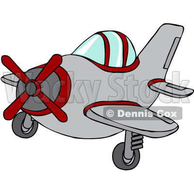 400x400 Free Vector Clip Art Illustration Of A Small Plane Djart