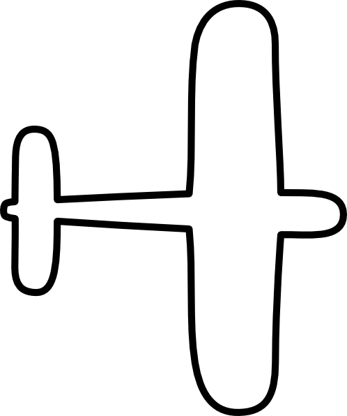 498x596 Airplane Outline Clip Art