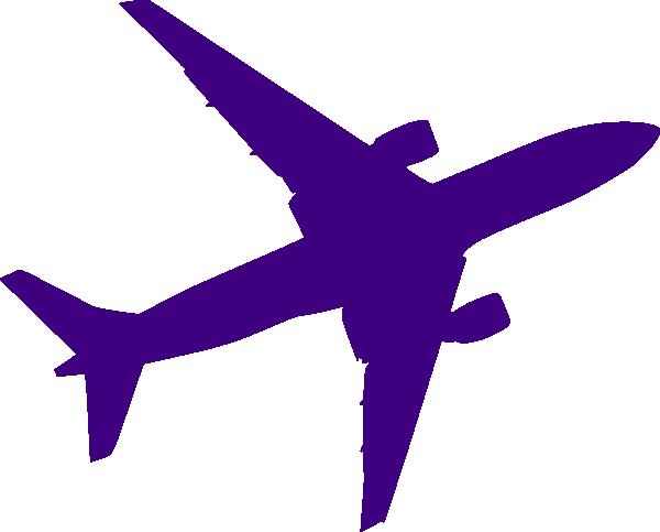 600x483 Purple Clipart Plane