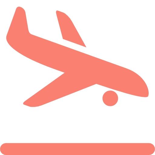512x512 Landing Airplane Clipart