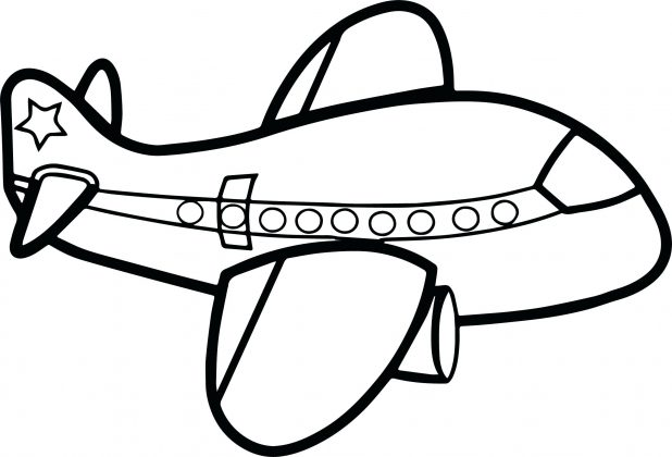 618x420 Easy Airplane Drawing Free Printable Coloring Pages For Kids 43