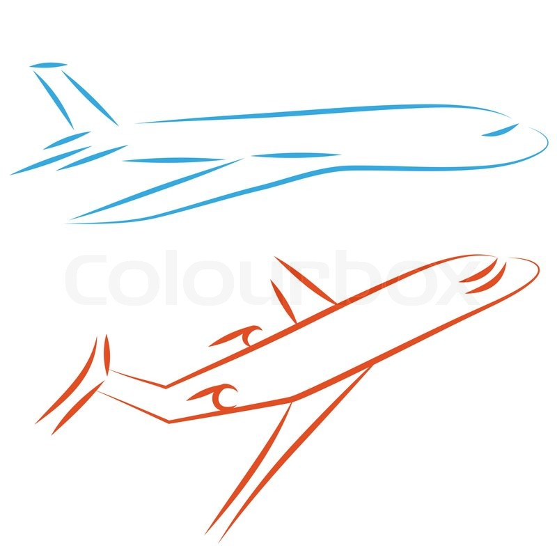 800x800 Flying Vector Airplane, Icon Plane. Airliner, Jet. Passenger