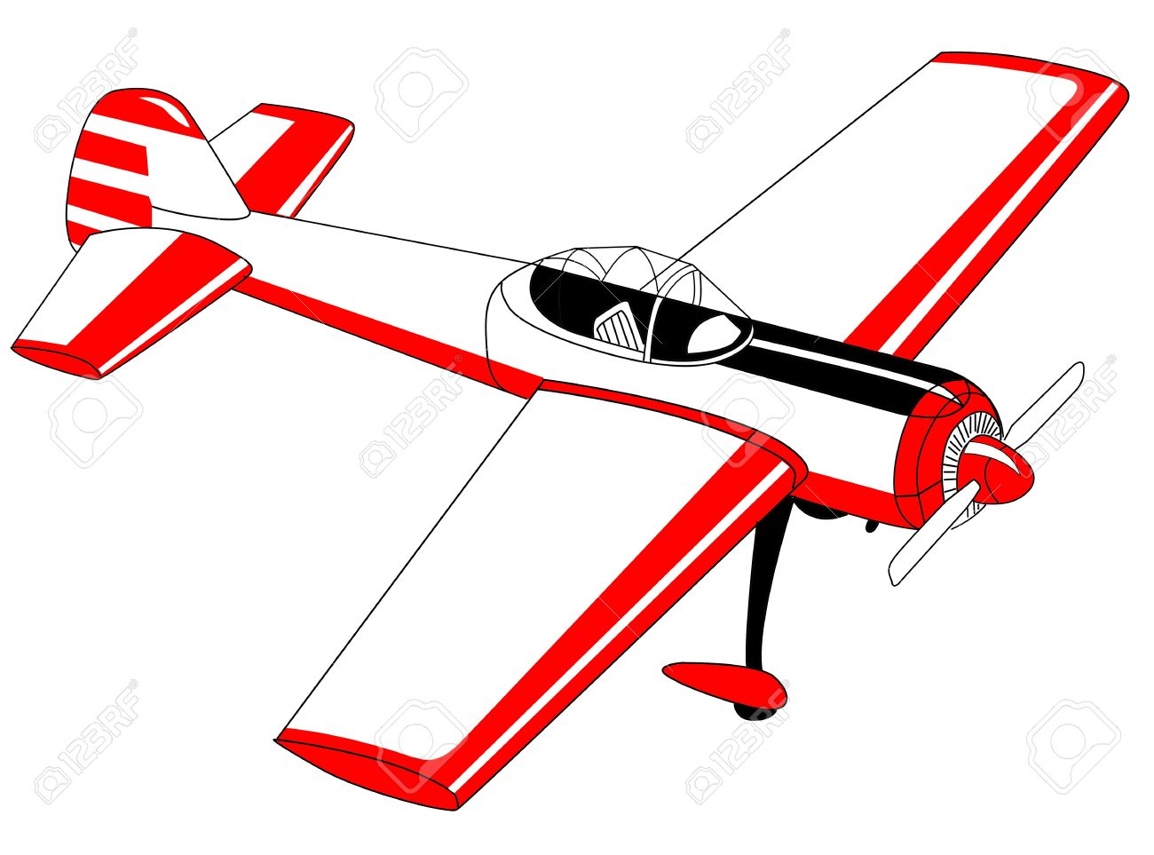 1300x963 Plane Drawing On White Background Royalty Free Cliparts, Vectors