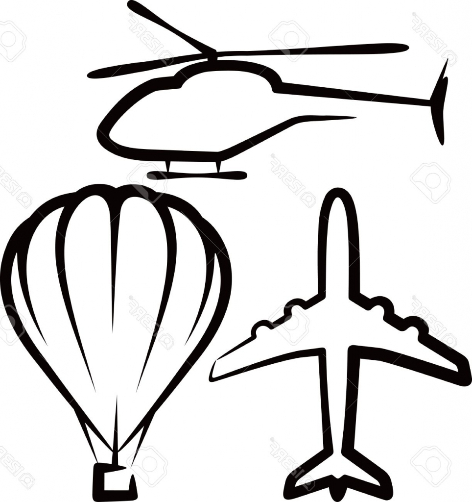 964x1024 Simple Plane Drawing Simple Illustration With Air Transport