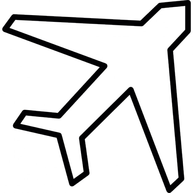626x626 Airplane Outline Rotated Icons Free Download