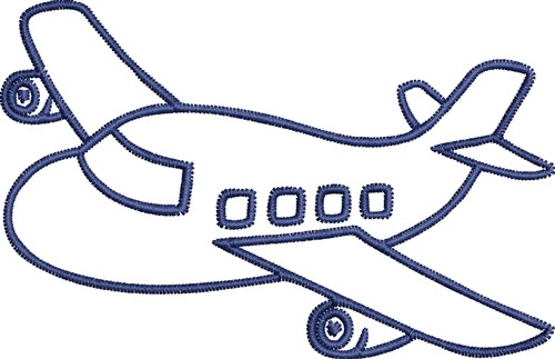 500x323 Jet Plane Outline Embroidery Design From Favpro Designs Grand