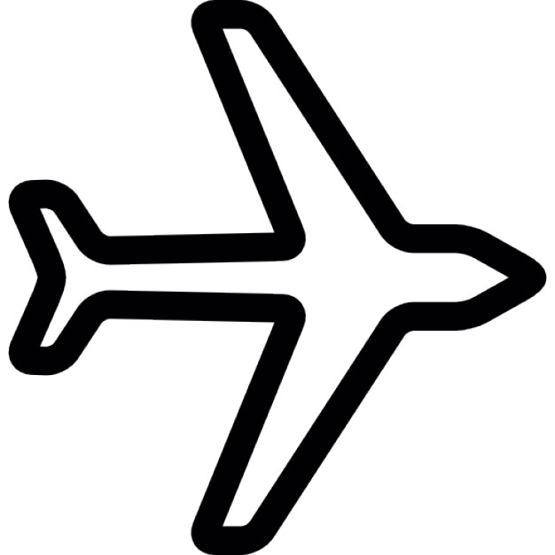 626x626 Plane Outline Icons Free Download