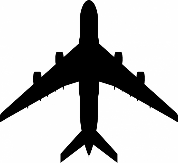 600x549 Plane Outline Free Vector Download (5,033 Free Vector)