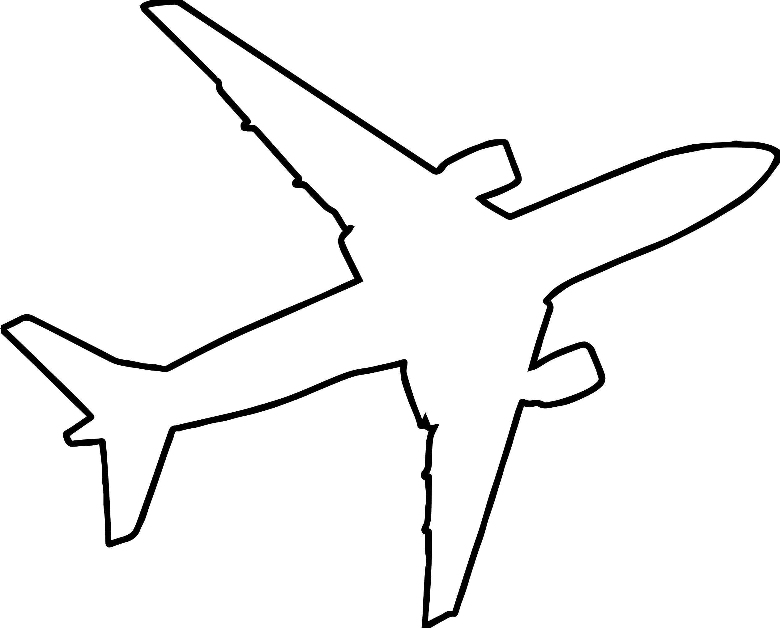 2523x2032 Airplane Outline