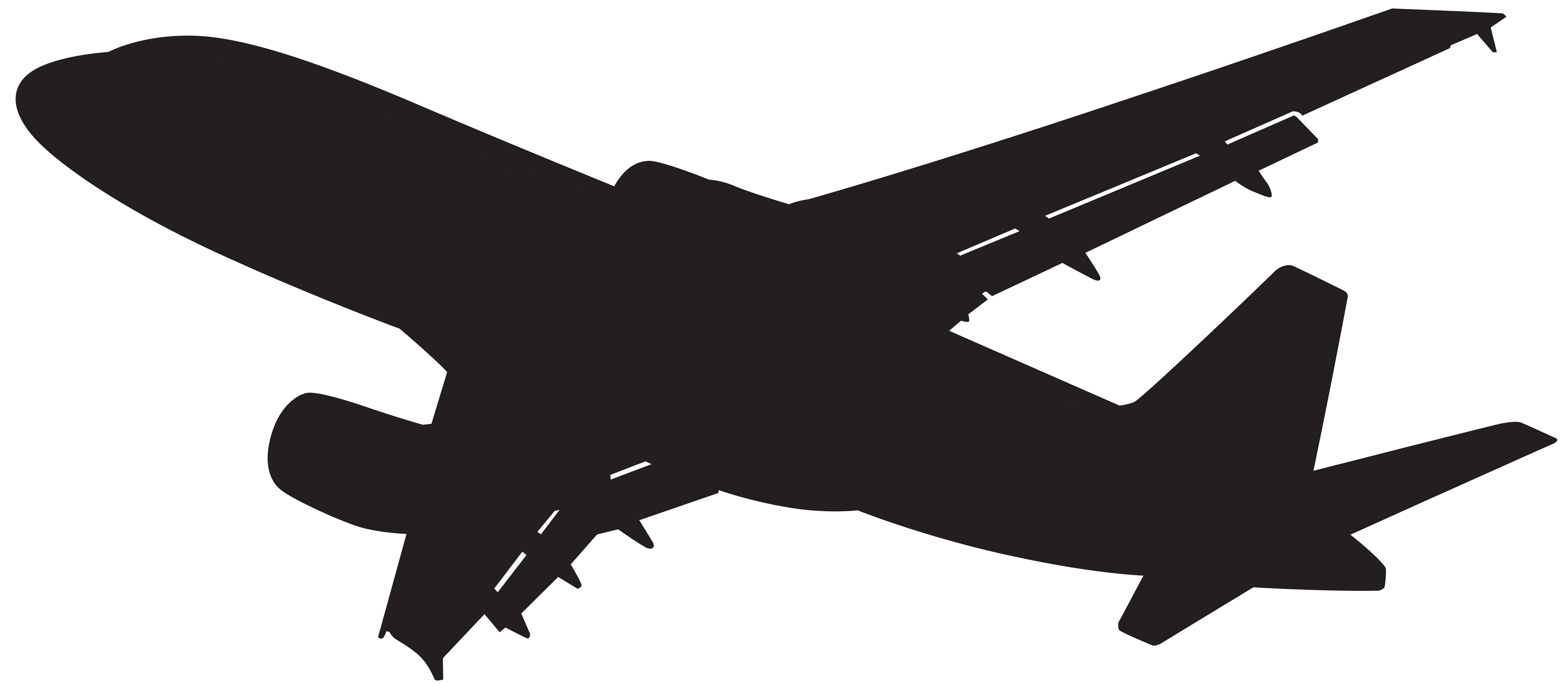 8000x3495 Plane Silhouette Png Clip Art Gallery Yopriceville