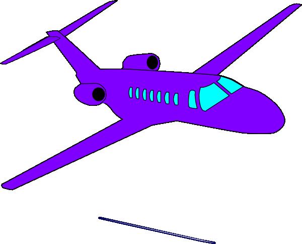 600x484 Purple Plane Clip Art