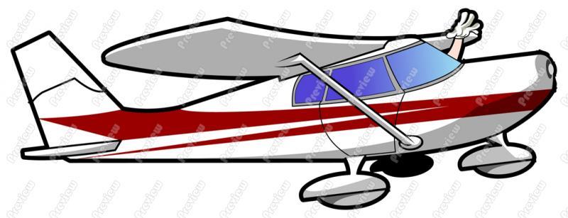800x307 Air Plane Pilot Character Clip Art