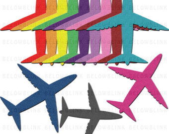 340x270 Plane Clipart Etsy