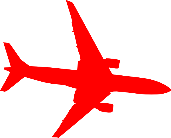 600x485 Airplane Red Clip Art