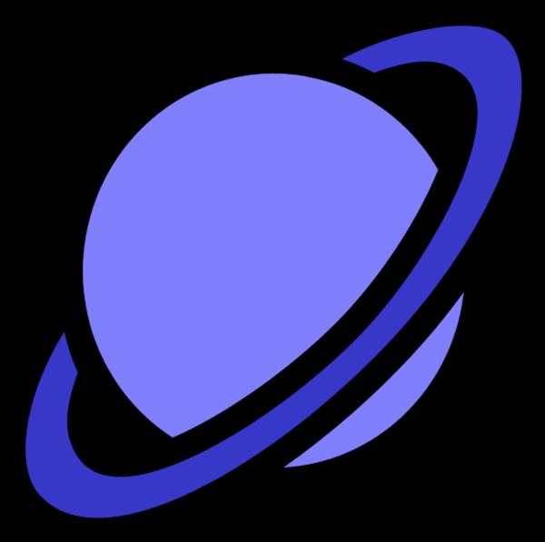 600x597 Planet Icon Vector Clip Art