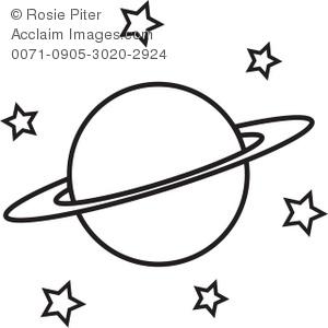 300x300 Illustration Of Saturn And Stars