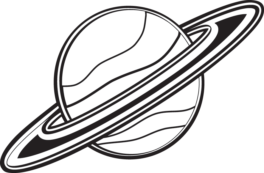 886x582 Saturn Clipart Black And White Clipartfest
