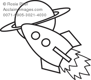 300x265 Spaceship Clipart Black And White