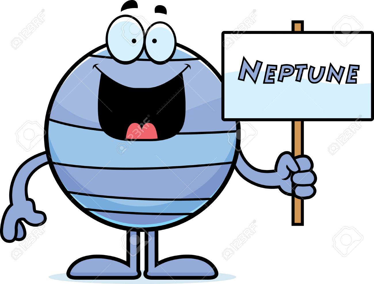 1300x989 A Cartoon Illustration Of The Planet Neptune Holding A Sign