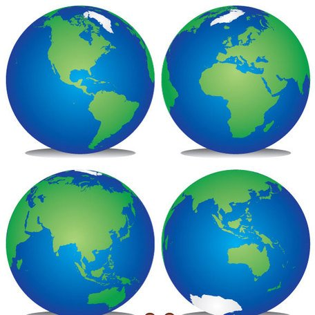 456x456 Planet Earth Clip Art, Vector Planet Earth