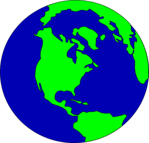 298x285 Planet Clipart Earth Map
