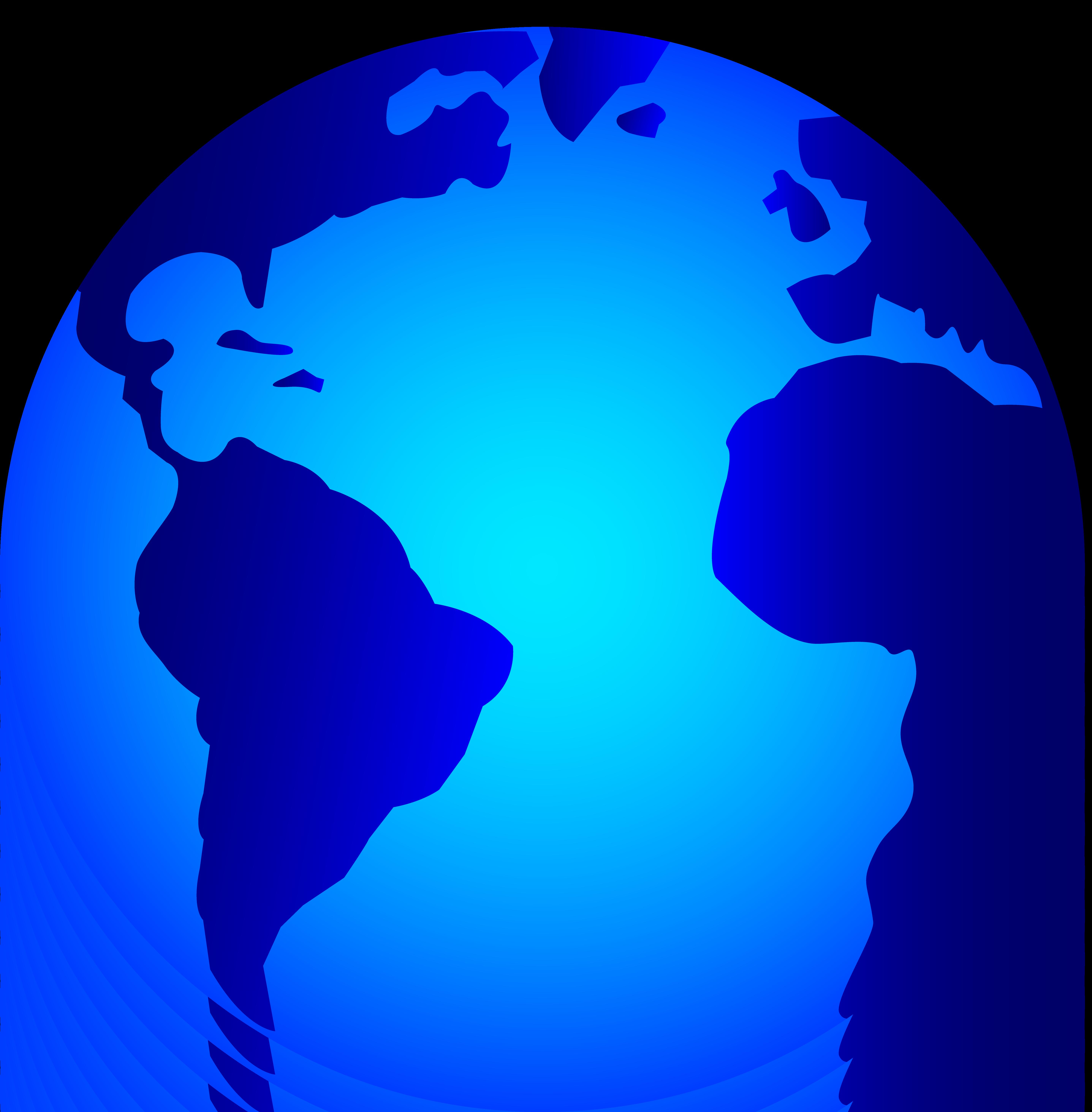 5748x5852 Shiny Blue Planet Earth