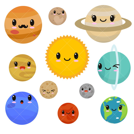 570x570 Planets And Moon Clip Art Cliparts
