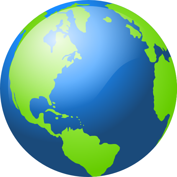 600x600 World Globe Logo Clipart