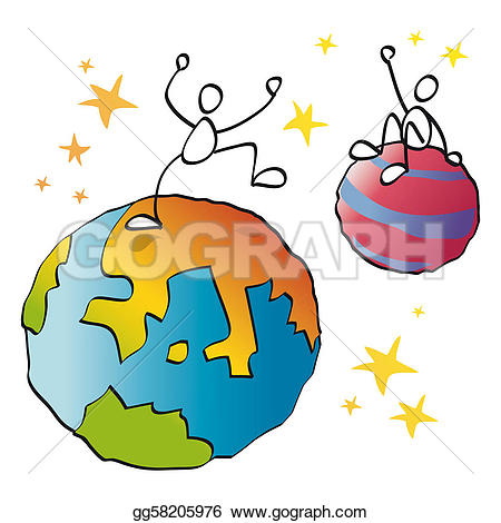 450x470 Planets clipart funny